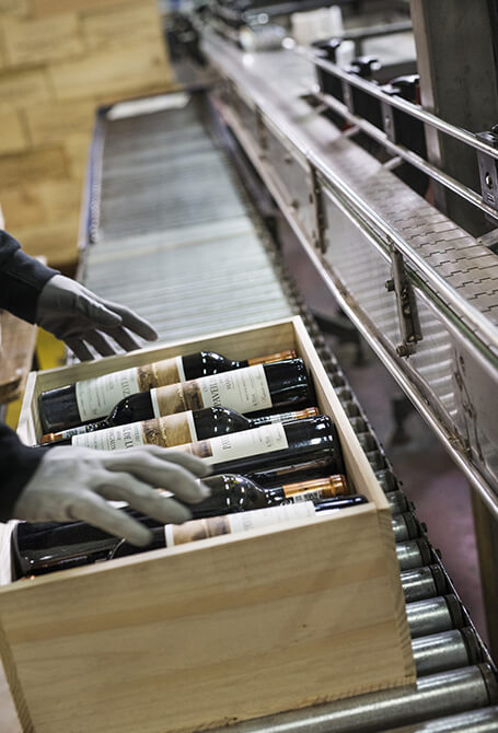 conditionnement du vin